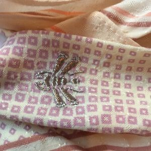 Accessories - NWT Honey Bee embroidered short scarf*